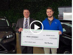Half Court Shot Winner - Mike Denney