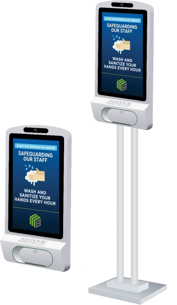 hand sanitizer kiosk display